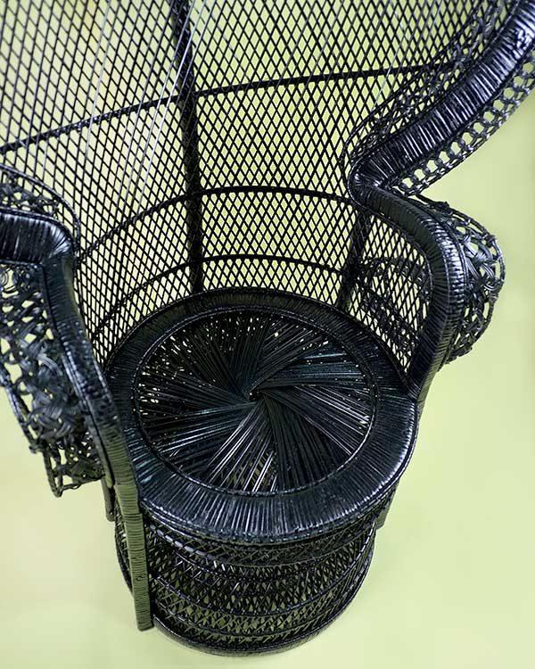 Rattan Princess Chair in Black
