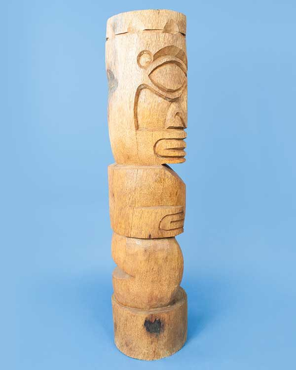 Hand carved wooden Tiki
