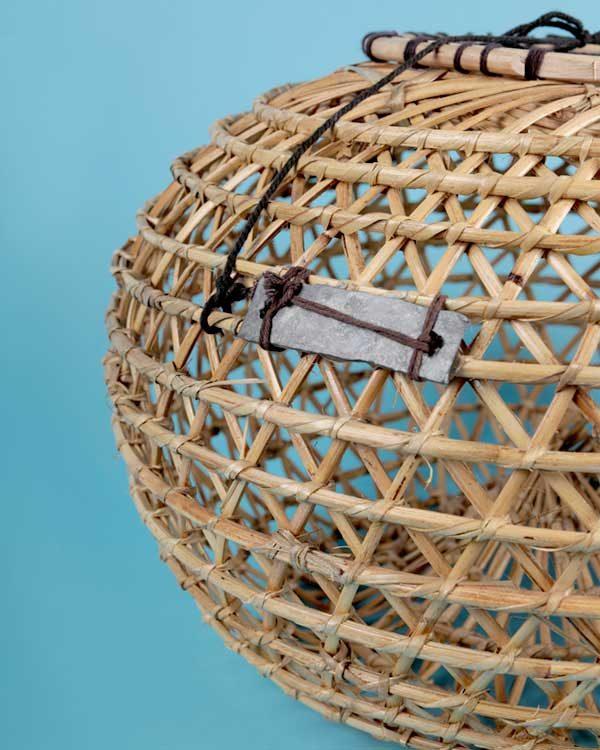 Decorative rattan fish trap