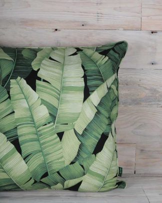 Tropical print banana leaf cushion