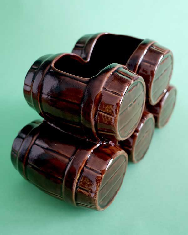 Ceramic Tiki mug sharer barrel stack