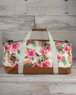 Tropical Hibiscus Print Holdall